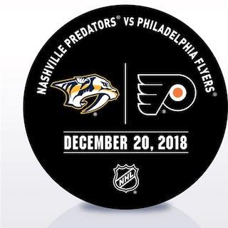 Philadelphia Flyers Warmup Puck December 20, 2018 vs. Nashville Predators