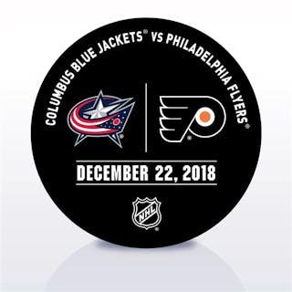 Philadelphia Flyers Warmup Puck December 22, 2018 vs. Columbus Blue