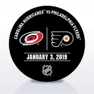 Philadelphia Flyers Warmup Puck January 3, 2019 vs. Carolina Hurricanes