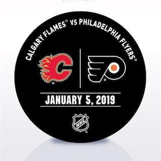Philadelphia Flyers Warmup Puck January 5, 2019 vs. Calgary Flames