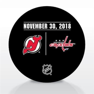 Washington Capitals Warmup Puck November 30, 2018 vs. New Jersey Devils