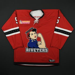 Ryan, Jenny Red Set 1 Metropolitan Riveters 2017-18 #5 Size: MD