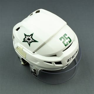 Ritchie, Brett White, CCM Helmet w/ Oakley Shield Dallas Stars 2015-16