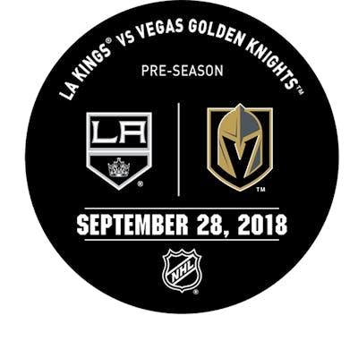 Vegas Golden Knights Warmup Puck September 28, 2018 vs. Los Angeles