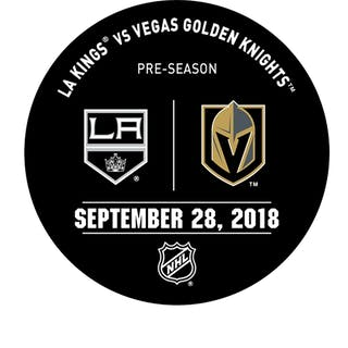 Vegas Golden Knights Warmup Puck September 28, 2018 vs. Los Angeles