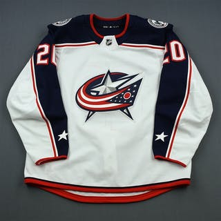 Nash, Riley White Set 1 Columbus Blue Jackets 2018-19 #20 Size: 56