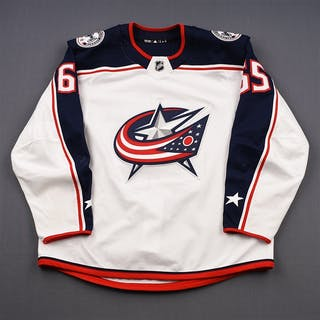 Nutivaara, Markus White Set 1 Columbus Blue Jackets 2018-19 #65 Size: 56