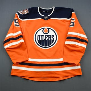 Gravel, Kevin Orange Set 1 w/ 40th Anniversary Patch Edmonton Oilers