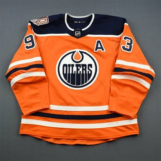 Nugent-Hopkins, Ryan Orange Set 1 w/A, w/ 40th Anniversary Patch Edmonton