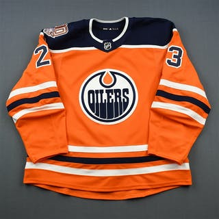 Spooner, Ryan Orange Set 1 w/ 40th Anniversary Patch Edmonton Oilers