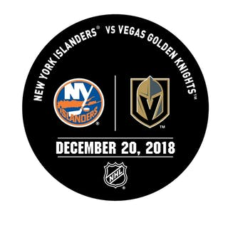 Vegas Golden Knights Warmup Puck December 20, 2018 vs. New York Islanders
