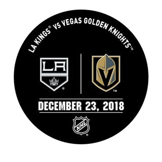 Vegas Golden Knights Warmup Puck December 23, 2018 vs. Los Angeles