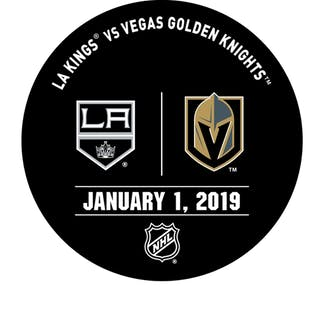 Vegas Golden Knights Warmup Puck January 1, 2019 vs. Los Angeles Kings 2018-19