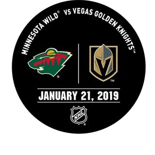 Vegas Golden Knights Warmup Puck January 21, 2019 vs. Minnesota Wild 2018-19