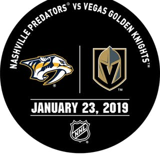 Vegas Golden Knights Warmup Puck January 23, 2019 vs. Nashville Predators
