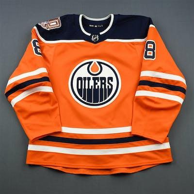 Rattie, Ty Orange Set 1 w/ 40th Anniversary Patch Edmonton Oilers