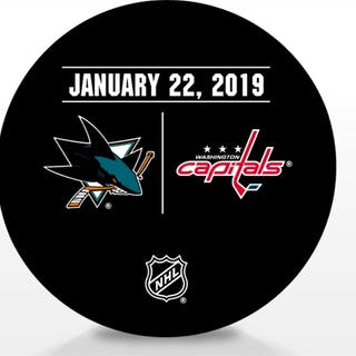 Washington Capitals Warmup Puck January 22, 2019 vs. San Jose Sharks