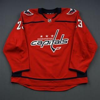 Jaskin, Dmitrij Red Set 1 Washington Capitals 2018-19 #23 Size: 58