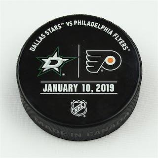 Philadelphia Flyers Warmup Puck January 10, 2019 vs. Dallas Stars