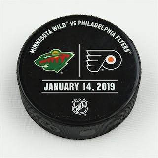Philadelphia Flyers Warmup Puck January 14, 2019 vs. Minnesota Wild