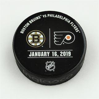 Philadelphia Flyers Warmup Puck January 16, 2019 vs. Boston Bruins