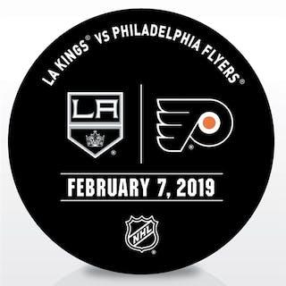 Philadelphia Flyers Warmup Puck February 7, 2019 vs. Los Angeles Kings