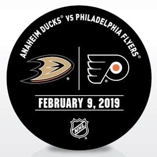 Philadelphia Flyers Warmup Puck February 9, 2019 vs. Anaheim Ducks