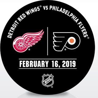 Philadelphia Flyers Warmup Puck February 16, 2019 vs. Detroit Red