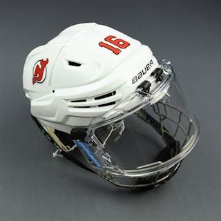 Santini, Steven White, Bauer Helmet w/ Bauer Face Shield New Jersey
