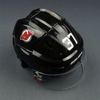 Zacha, Pavel Black, Back Helmet w/ Bauer Shield New Jersey Devils