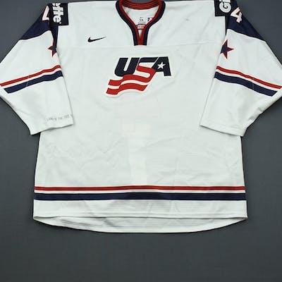 Butcher, Will * White, World Junior Championship Team USA 2014 #4 Size: 56