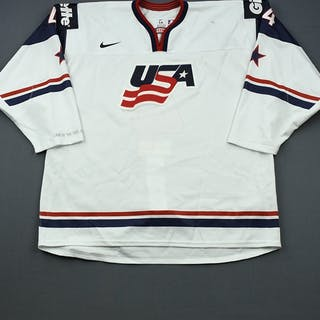 Butcher, Will * White, World Junior Championship Team USA 2014 #4 Size: 56