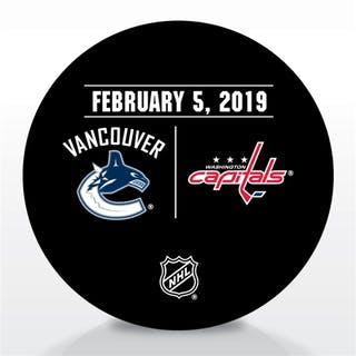 Washington Capitals Warmup Puck February 5, 2019 vs. Vancouver Canucks