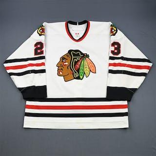Vandermeer, Jim * White - Photo-Matched Chicago Blackhawks 2006-07 #23 Size: 56