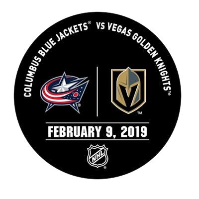 Vegas Golden Knights Warmup Puck February 9, 2019 vs. Columbus Blue