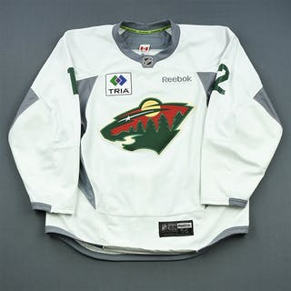 Staal, Eric * White Practice w/ TRIA Patch - CLEARANCE Minnesota Wild