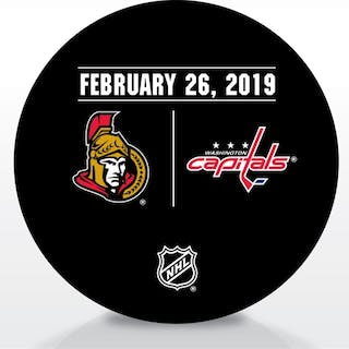 Washington Capitals Warmup Puck February 26, 2019 vs. Ottawa Senators
