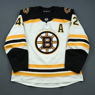 Backes, David White Set 1 w/A Boston Bruins 2018-19 #42 Size: 56