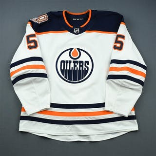 Gravel, Kevin White Set 2 w/ 40th Anniversary Patch Edmonton Oilers
