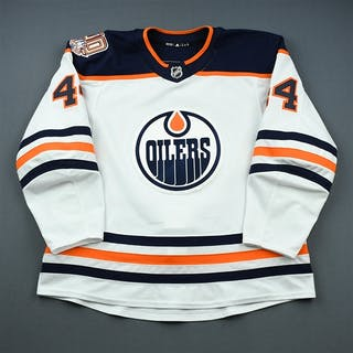 Kassian, Zack White Set 2 w/ 40th Anniversary Patch Edmonton Oilers