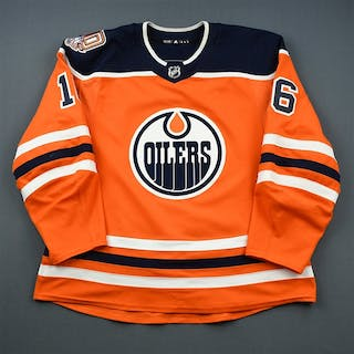 Khaira, Jujhar Orange Set 2 w/ 40th Anniversary Patch Edmonton Oilers