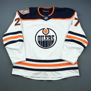 Lucic, Milan White Set 1 w/ 40th Anniversary Patch Edmonton Oilers