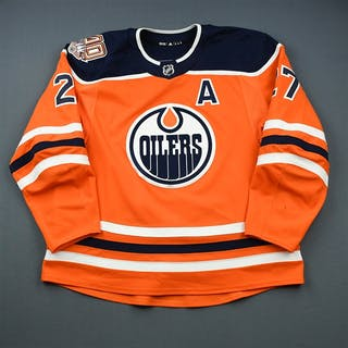 Lucic, Milan Orange Set 2 w/A, w/ 40th Anniversary Patch Edmonton