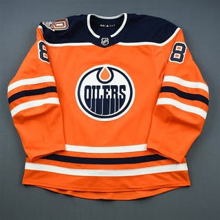 Rattie, Ty Orange Set 2 w/ 40th Anniversary Patch Edmonton Oilers