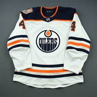 Russell, Kris White Set 2 w/ 40th Anniversary Patch Edmonton Oilers