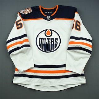 Yamamoto, Kailer White Set 1 w/ 40th Anniversary Patch Edmonton Oilers