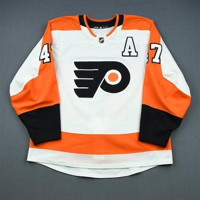 MacDonald, Andrew White Set 1 w/A Philadelphia Flyers 2018-19 #47 Size: 54