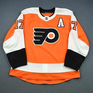 Simmonds, Wayne Orange Set 1 w/A Philadelphia Flyers 2018-19 #17 Size: 56