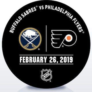 Philadelphia Flyers Warmup Puck February 26, 2019 vs. Buffalo Sabres
