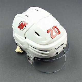Coleman, Blake White, Bauer Helmet w/ Bauer Shield New Jersey Devils